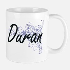 Duran surname artistic design with Flowers Mugs