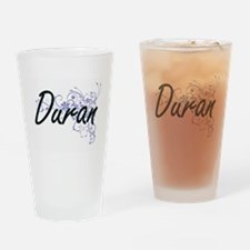 Duran surname artistic design with Drinking Glass