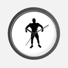 Muscles showing by bodybuilder Wall Clock