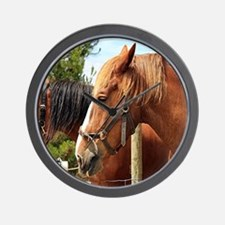Cute Australian draught horse Wall Clock