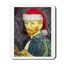 Van Gogh Santa Mousepad