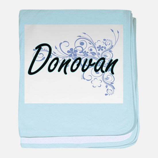 Donovan surname artistic design with baby blanket