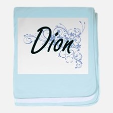 Dion surname artistic design with Flo baby blanket