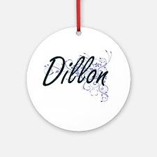 Dillon surname artistic design with Round Ornament