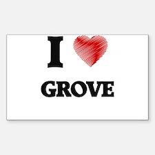 I love Grove Decal