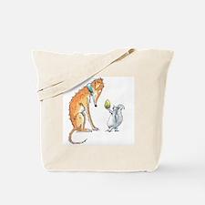 Cute Grey hound Tote Bag