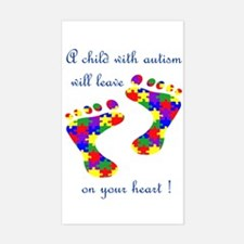 Footprints on your heart Rectangle Decal