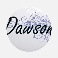 Dawson surname artistic design with Round Ornament