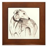 Whippet dog Framed Tiles