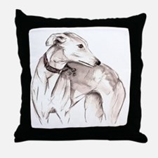 Cute Greyhound Throw Pillow