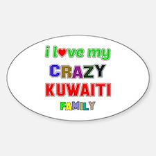 I love my crazy Kuwaiti family Decal