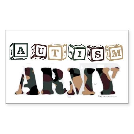 Autism Army Apparel Rectangle Sticker
