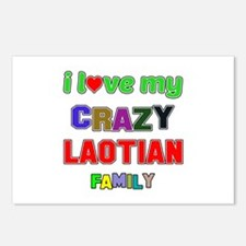 I love my crazy Laotian f Postcards (Package of 8)