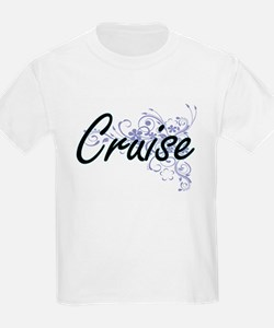 Cruise surname artistic design with Flower T-Shirt