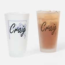 Craig surname artistic design with Drinking Glass