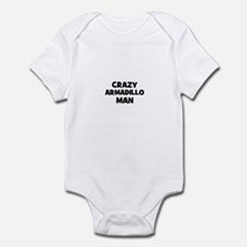 Crazy armadillo man Infant Bodysuit