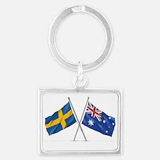 Swedish / Australian Flag Keychains