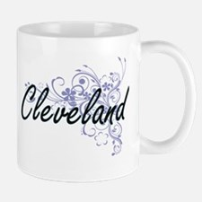 Cleveland surname artistic design with Flower Mugs