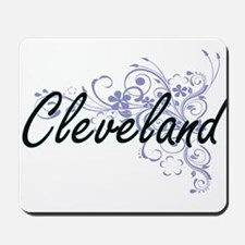 Cleveland surname artistic design with F Mousepad
