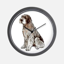Wirehaired Pointing Griffon P Wall Clock