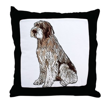 Wirehaired Pointing Griffon P Throw Pillow