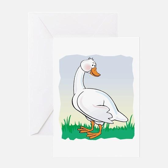 Cute Happy Goose Greeting Card