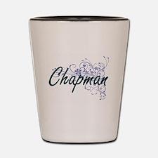 Chapman surname artistic design with Fl Shot Glass