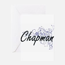 Chapman surname artistic design wit Greeting Cards