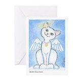 Cat with wings Greeting Cards (10 Pack)