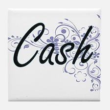 Cash surname artistic design with Flo Tile Coaster