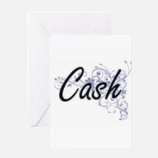 Cash surname artistic design with F Greeting Cards