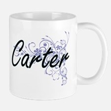 Carter surname artistic design with Flowers Mugs