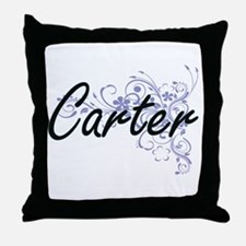 Carter surname artistic design with F Throw Pillow