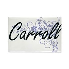 Carroll surname artistic design with Flowe Magnets