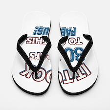 74 Years Birthday Designs Flip Flops