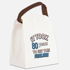 74 Years Birthday Designs Canvas Lunch Bag