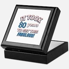 74 Years Birthday Designs Keepsake Box