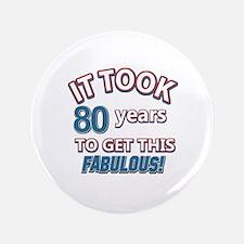 74 Years Birthday Designs Button