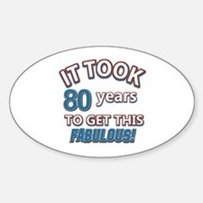 74 Years Birthday Designs Decal