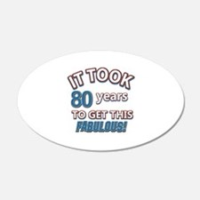 74 Years Birthday Designs Wall Decal
