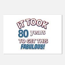 74 Years Birthday Designs Postcards (Package of 8)