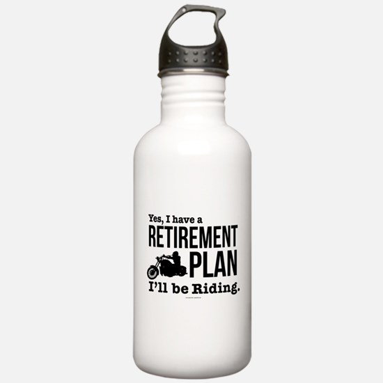 Riding Retirement Plan Water Bottle