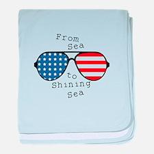 To Shining Sea baby blanket