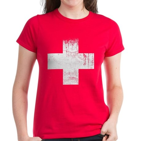 Red Cross Women's Dark T-Shirt
