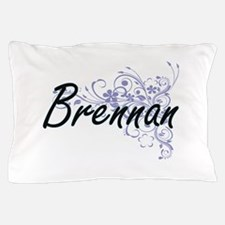 Brennan surname artistic design with F Pillow Case