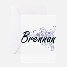 Brennan surname artistic design wit Greeting Cards