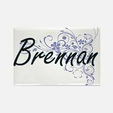 Brennan surname artistic design with Flowe Magnets