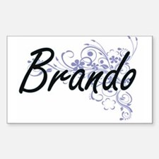 Brando surname artistic design with Flower Decal