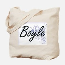 Boyle surname artistic design with Flower Tote Bag
