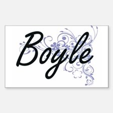 Boyle surname artistic design with Flowers Decal